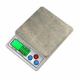 "MH-666 600g/0.01g 2.5"" LCD Digital Scale Jewelry Scale with Removable Tray Silver Gray"