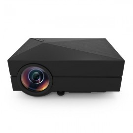 GM60 Mini Portable Home Theater Digital LED HD Projector with HDMI US Plug Black