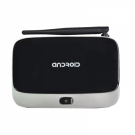 CS918 Q7 Android 4.4 OS RK3188 Quad Core Bluetooth WiFi HDMI Connectivity TV Box Player with AV USB TF Card Slot US Plug Black