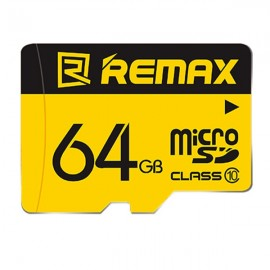 Remax High Speed Class 10 64GB Classic Style Micro SD / TF Card Flash Memory Card for Phone/Tablet/Camera Yellow & Black