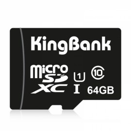KingBank 64GB Class10 U1 TF Micro SD Memory Card Black