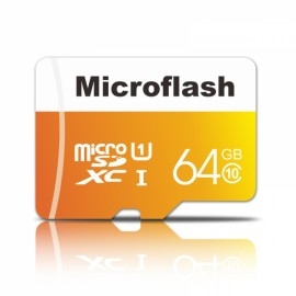 Microflash 64GB Class 10 Micro SD Card TF Card Cellphone Memory Card