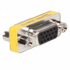 15 Pin HD SVGA VGA Female to Female Gender Changer Adapter