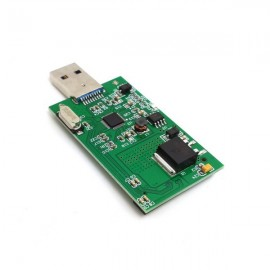 Cwxuan Mini PCI-E mSATA to USB 3.0 External SSD PCBA Converter Adapter Card Green