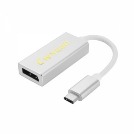 Cwxuan USB 3.1 Type-C Male to Displayport Female Adapter Cable White