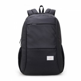 Man Computer Rucksack Travel Waterproof Backpack without USB Port Black
