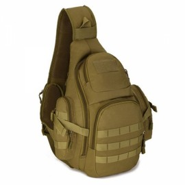 Tactical Military Outdoor Shoulder Bag Day Pack Sling Chest Pouch Khaki