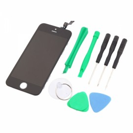LCD Touch Screen Bezel Frame Assembly Standard for iPhone 5S with Tools Set Black