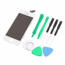 LCD Touch Screen Replacement Digitizer Assembly for iPhone 5 + Tools Set White