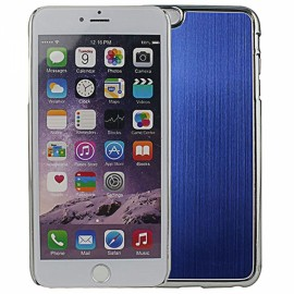 "Wire Drawing Titanium Alloy Back Protective Case for 5.5"" iPhone 6 Plus/6S Plus Blue"