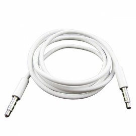 3.5mm Male To Male Audio Extended Cable for iPhone/iPad/iPod White