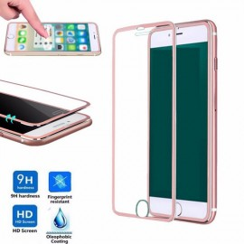 0.3mm Tempered Glass Screen Protector Cover for iPhone7 Plus Rose Golden