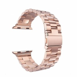 Stainless Steel Watchband with Connector for Apple iWatch Sports Edition 38mm Rose Golden