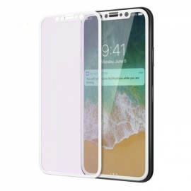 3D Full Cover Anti Blue Ray Screen Protector for iPhone X 9H Tempered Glass - White