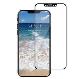 3Pcs 3D Full Cover HD Clear Screen Protector for iPhone X 9H Tempered Glass - Black