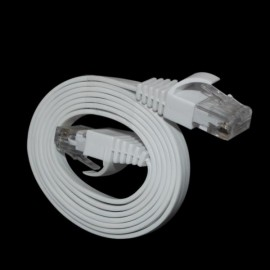 DM-018 RJ-45 Gold-plated Cat 6# Flat Network Cable White (1M)