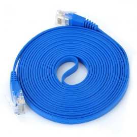 RJ45 Ethernet LAN Flat Cable (300cm) Blue