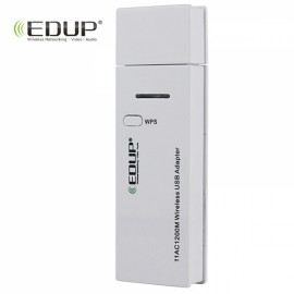 USB 3.0 802.11AC 1200Mbps 2.4G&5.8G Dual-band Wireless LAN Network Card Adapter with WPS One-Key Encryption AC1601