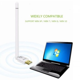EDUP EP-8552S 150Mbps Wireless Wifi Network Adapter Wifi Dongle with 6dbi High Gain Antenna White