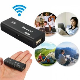 M1 Portable 3G 4G WiFi Hotspot IEEE802.11b/g/n 150Mbps RJ45 USB Router Black