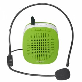 Portable Loudspeaker Voice Speech Amplifier with Headset for Teachers Tour Guides Green