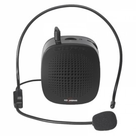 Portable Loudspeaker Voice Speech Amplifier with Headset for Teachers Tour Guides Black