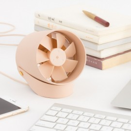 VH Hanging Desk Stand USB Fan Metal Quiet Touch Switch Mute Cooling Mini USB Charge Fan - Pink