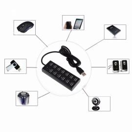 Cwxuan High Speed 480Mbps 13-Port USB 2.0 Hub / Switch / Power Port