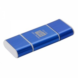 2-in-1 OTG USB Micro SD/TF Card Reader Blue
