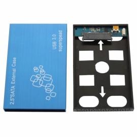 25HC307 Aluminum Alloy USB 3.0 to SATA Hard Disk Docking Station Blue