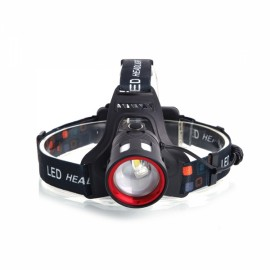 500LM T6+2*LED Bicycle Headlight Outdoor Rechargeable Headlamp Black