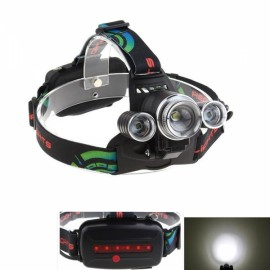 UltraFire New Aluminum Alloy 3 LED T6 Light 4 File Focus Headlamp Bike Lights Black & Silver