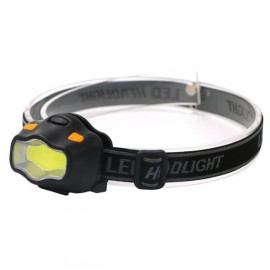 Mini Waterproof COB LED Headlamp 400LM 3 Modes Red Warning Safety Headlight Color Random