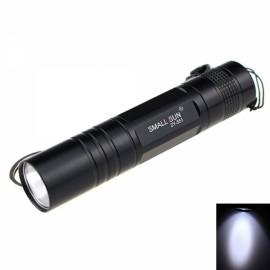 ZY-551 Mini 80LM 1-LED 1-Mode Cool White Flashlight Black (1 x AA)