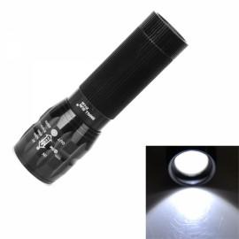 ZY-L30 80-120lm LED White Light Waterproof Zooming Aluminum Alloy Flashlight Black