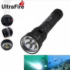 UltraFire DX4S 4 x-T6 2800 Lumens Waterproof LED Diving Flashlight Black