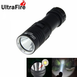 UltraFire 1000lm 3 Mode IPX6 Waterproof LED Diving Flashlight Black