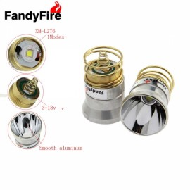 FandyFire 26.5mm 1 Mode Plug-in Style 501B / 502B C2.504B Module W / OP Reflector for Flashlight Silver & Golden