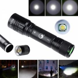 U`King ZQ-XJ82T6 1000LM 3 Modes Conves Lens White Light Mini Flashlight Black