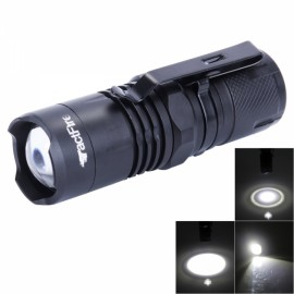 TactfireT6 LED 4-Mode Focusing Stretchable Flashlight with Luminous Display Black