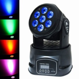 100W 7-LED RGBW Auto / Sound Control DMX512 Rotary Stage Lighting Black