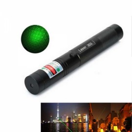 Ultrafire 5mW 532nm Star Green Light Laser Pointer Black & Silver