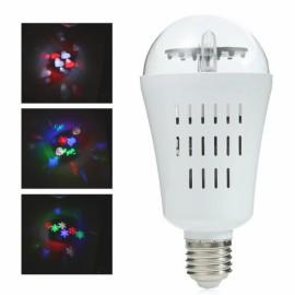 E27 4W RGB Snowflake Patterns LED Stage Light Bulb (AC 85-265V) White
