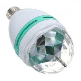 E27 3W RGB LED Rotating Bulb Stage Bar Party Lamp (AC 85-260V) Blue