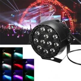 12W 12 LED RGB Stage Projector Light Bar Club DJ Disco Par Lamp UK Plug Black