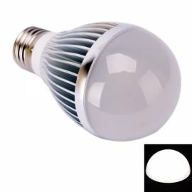 E27 5W 5LEDs 450LM 6000K High Power White Light LED Ball Light Bulb (12V)