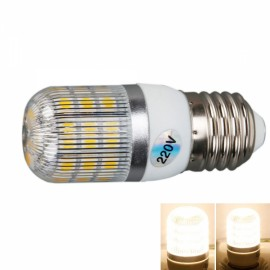 E27 5W 400 Lumen 3000K Warm White Light Corn Light with Silver Side Stripes Cover (220V)