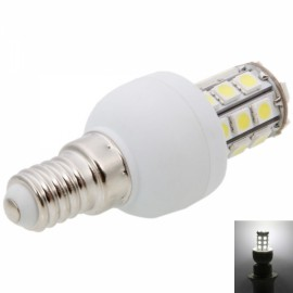 E14 3W 27LED SMD5050 6000-6500K Dimmable White LED Corn Light Bulb (220-240V)