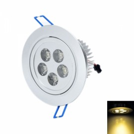 THD-G526 5W 2500K 480LM Warm White 5-LED Ceiling Light Lamp Silver (85~265V)