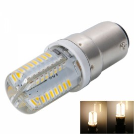 B15 3W 64-LED SMD3014 180LM Warm White Light Aluminum & Silicone Corn Light (220V)